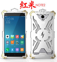 Wholesale Metal Cover For Note2 - Hongmi note2 Original Design Cool Metal Aluminum THOR IRONMAN protect phone cover shell case for XIAOMI redmi note 2 NOTE2 case