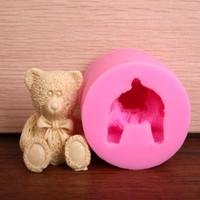 Wholesale Teddy Bear Chocolates - 3D Teddy Bear Silicone DIY Mold Fondant Chocolate Soap