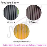 Wholesale Color Keratin Glue Sticks - Wholesale-2pc 1.1*18 cm Keratin Glue Sticks for hair extensions,fusion glue, brown, blonde, black color, 3 colors available
