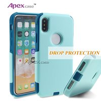 Wholesale Green Protective Covers - Commuter Hybrid 2 in 1 Armor Cases Protective Cover Case For iphone X 7 6s 6plus Samsung Galaxy S6 S7 Edge s8 plus