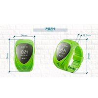 Wholesale Watch Gps Tracker Alarm - Mini Child Bracelet GPS Watch Hiking GPS Tracking Device Smartwatch Wrist Watch Activity Tracker LED Watch SOS Mobile Phone Alarm Clock