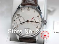 Wholesale Automatic Portuguese Watches - Top quality Sapphire Portuguese 7 Day 7Day 500114 White Dial automatic Mens Men's Watch Watches