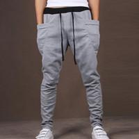 Wholesale Skinny Leg Joggers - Mens Joggers New Casual Slim Fit Skinny Harem Pants Men Drop Crotch Sweatpants Jogging Pants Men Sarouel Track Pants Chinos