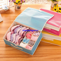 Wholesale Household Bins - Underwear Bra Storage Box bins household 16 Grid storage containers organizers Bra Socks Ties Sorting Divider Closet