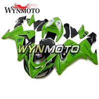 Carrocería para Kawasaki ZX-10R ZX10R 2006 2007 06 07 Injection Plastics Kit de carenado para motocicleta ABS Covers Body Frames Green White