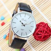 Wholesale Dalas Watches - Fashion Dalas Brand Men Quartz Watches Men Elegant Classic Black Leather Strap Analog Sports Wristwatches Male Clock Relojes