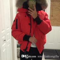 Wholesale Cheap Brand Hoodies - Winter Bomber Parkas Women Canada Down Brand Designer Chilliwackbomber Parka Hoodies Zippers Logos Ladies Jackets Warm Female Coats Cheap