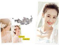Wholesale Wedding Diamante Hair Pins - Bridal Headpiece Hair Pin Bridal Wedding Flower Pearls Hair Comb Clip Diamante Crystal Rhinestone Hot Wedding Hair Comb