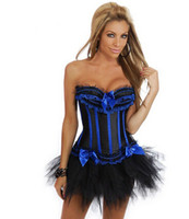 Wholesale dress size small free shipping - Wholesale-free shipping Plus Size Sexy Corset Dress Basques Skirt Lingerie Small To 6XL 8068+7008