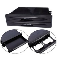 Wholesale car dvd New Universal Car Plastic Double Din Radio Pocket Drink Cup Holder Storage Box small order no tracking
