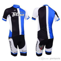 Wholesale Blanco Cycling Jersey Bib Short - 2015 hot sale GIANT cycling jerseys blanco cycling jersey team Bike clothing +short Bib Pants santa cruz cycling jersey C00S bike shorts