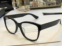 quadros de óculos cor de rosa venda por atacado-0038 Luxo Moda Feminina Marca de Design Popular Óculos Oco Out Lente Óptica Olho de Gato Completo Quadro Preto Tortoise Cinza Rosa vem Com o Caso