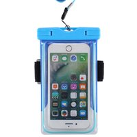 Wholesale Lanyard Rings - Spuitom Universal Waterproof Case with Armband Luminous Ring Water Resistant Pouch Dry Bag with Lanyard for iPhone Smartphone Devices