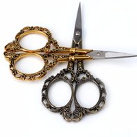 Wholesale vintage sewing scissors - 1PC Stainless Steel European Vintage Floral Scissors Sewing Shears DIY Tools -033 Best Quality