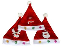 Wholesale Holiday Decals - Christmas decorations, children's holiday gifts, Christmas hats Christmas decals cartoon decorations old snowman children's hats 2017 new