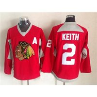 Wholesale New Cheap Clothes For Men - 2015 Blackhawks New Jersey #2 Duncan Keith Red Hockey Training Uniform Clothes Cheap Ice Hockey Jerseys for Sale Men Outdoor Athletic Wear