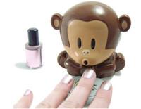 Wholesale Blow Monkey - Top quality Monkey Dryer Blower Portable Blowing Nails Dryer Fingernail Dryer Nail Salons Stoving Implement 110pcs