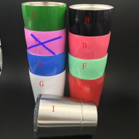 Wholesale Colored Glass Cups - Stainless steel Mugs 9oz wine cups 8 colors non-vacuum wine glass tumbler outdoor Hydration Gear car cups with lids straws 9oz kids cup
