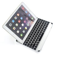 Wholesale Tablet Cover Bluetooth Keyboard - For iPad Air 2 Wireless Bluetooth Smart Backlight Keyboard Cases Aluminum Alloy Ultra thin Tablet PC Stand Cover For iPad Air Air2 5