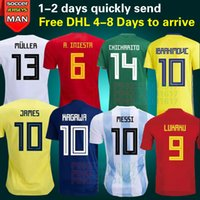Wholesale Germany Wholesale - 2018 World Cup Germany Spain Argentina Japan Colombia Belgium Russia Mexico Sweden Soccer Jerseys 18-19 Home CHICHARITO G DOS SANTOS jerseys