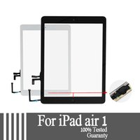 Wholesale Digitizer Sticker - For iPad air 1 for iPad 5 Touch Screen Glass Digitizer Assembly with Home Button& Adhesive Glue Sticker Replacement A1474 A1475 tested well