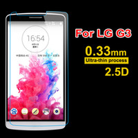 Wholesale lg optimus g2 - For LG Optimus G2 G3 Mini G4 0.33mm Tempered Glass For LG L FINO L65 L70 L80 L90 Screen Protector No Package