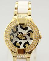 Wholesale Leopard Gold Watch - free shipping Luxury quartz women Ladies fashion watches Leopard grain dial watc