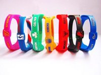 Wholesale Ion Power Silicone Energy Band - Silicone Bands Energy Power Basketball Wristbands Fashion Ion Hologram Bracelets Sport Bands , Can Choose Retail Boxes Or Not, Free Shipping