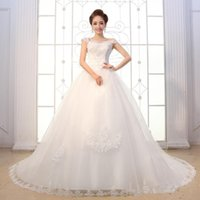 Wholesale Long Monarch Train Wedding Gowns - Free Shipping Vestidso 2015 Vinatge Wedding Dresses Lace Sexy In Stock Ball Gowns Long Train Bridal Dress Plus Size Backless Formal Sheer