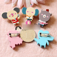 Fashion Kids New 2015 Children Gifts Brooch Lovely Children's Jewelry Coréia Romane Romani Forest Animals Brooch Cute Cartoon Crachá A4406