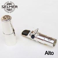 Wholesale silver alto sax - New Professional Silver Selmer Alto Metal Mouthpiece Eb Saxophone Mouthpiece Sax Size 5 6 7 8 9