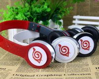 Wholesale Naruto Japanese Headband - Wholesale-Japanese Different style cartoon Anime Naruto Cosplay Headband 3.5mm Folding wired Earphone Headphones