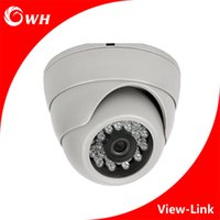Wholesale Mini Color Camera Ntsc - CWH-A4007H AHD Mini CCTV Camera with white color and 1MP 1.3MP 2MP front door camera color Security Surveillance indoor Dome Camera