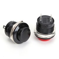 Wholesale Push Button Circuit - New Arrival 5pcs lot New Push Button Switch 3A 250V off-(on) 1 Circuit Non-locking Momentary 2 Colors order<$18no track