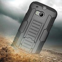 Wholesale m7 phone case - For HTC ONE 2 M8 M7 M9 Desire 626 Case Defender Armor Impact Hybrid Robot Holster with Rugged Back Cover Shockproof Phone Cases