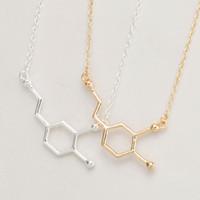Wholesale Copper Structures - 10pc lot Dopamine Molecule Necklace, Chemistry Necklace Structure Necklace XL140