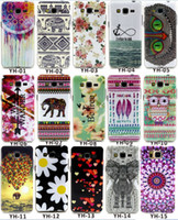 Wholesale Tribal Silicone - TPU Flower Cute Owl Soft Silicone IMD Dream Catcher Case For Galaxy Grand Neo i9060 Note 4 Note 3 Elephant Skin Floral Tribal Cover Fashion