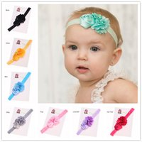 Wholesale Vintage Lace Headbands Newborn - 40 pcs Newborn Baby Vintage Hair Accessory Lace bow flower headband Hair Band Baptism Gift Headband Hairbows headband