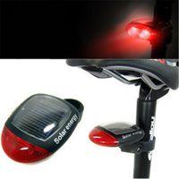 Wholesale Solar Bike Light LED Bike Lights Bicycle Lamp Mode Tail Light Bicycle Red LED Super Bright Solar Power Bike Rear Light Lamp Cycling Lamp
