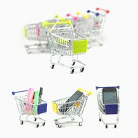 Wholesale Housing Shop - Mini Shopping Cart Creative Design Phone Storage Holder Children Play House Toys For Multi Colors 4 05fq C R