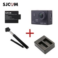 Wholesale sport camera batteries resale online - 2015 new Original SJCAM SJ5000 WiFi Sport Action Camera x Extra Battery x Extra Dual Slot Charger x Monopod