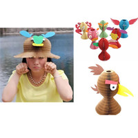 Wholesale Fold Paper Hat - 2PC Magic Vase Paper Cap Hat Animal Shape Style Folding Hat Scenic Hot