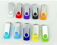 Wholesale 64 Gb Usb Flash Drives - swivel 32GB 64GB 128GB USB 2.0 Flash Memory Pen Drives Sticks Disks Discs Pendrives Thumbdrives