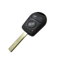 ingrosso scanalature chiave della lama-Guscio chiave di ricambio per copri chiave BMW Guscio chiave remoto a 3 tasti con ghiera per scanalatura Guscio portachiavi per auto BMW