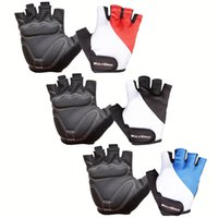 Wholesale Shock Racing Gloves - Wholesale-WOLFBIKE Bicycle Gloves Non-slip Shock-absorbing Silicone GEL Road MTB Cycling Bike Racing Riding Breathable Half Finger Gloves