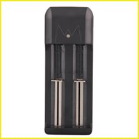 carregador de cigarro dupla venda por atacado-Duplo baterias carregador E Cigarro Dual Slots Carregadores de Bateria Universal para 18650 18350 Recarregável Bateria Li-ion via dhl