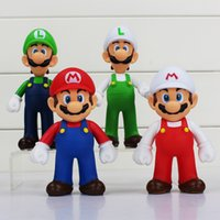 Wholesale mario luigi dolls - Super Mario PVC Action Figures Dolls mario luigi fire mario fire luigi Figure Toys 4 Styles 5 inch