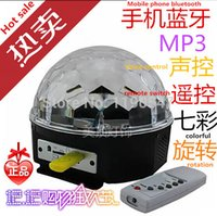 Gros-numérique RGB LED Musique cristal Magic Ball Effet lumineux SD MP3 USB DMX Disco DJ Stage Lighting + Télécommande + Control Bluetooth