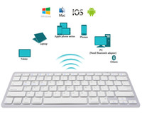 Wholesale Ipad Wireless Keyboards - 2018 Newest Ultra-slim Wireless Bluetooth 3.0 Keyboard For Android for MAC iPad IOS Apple Windows for OS System