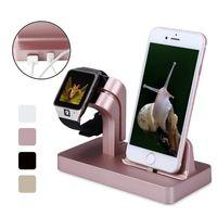 izlemek toptan satış-Apple İzle Şarj için Yerleştirme Istasyonu Şarj Masaüstü Cradle Tutucu Telefon Standı IPX 8 7 Artı 6 S 6 5 S SE Şarj Dock